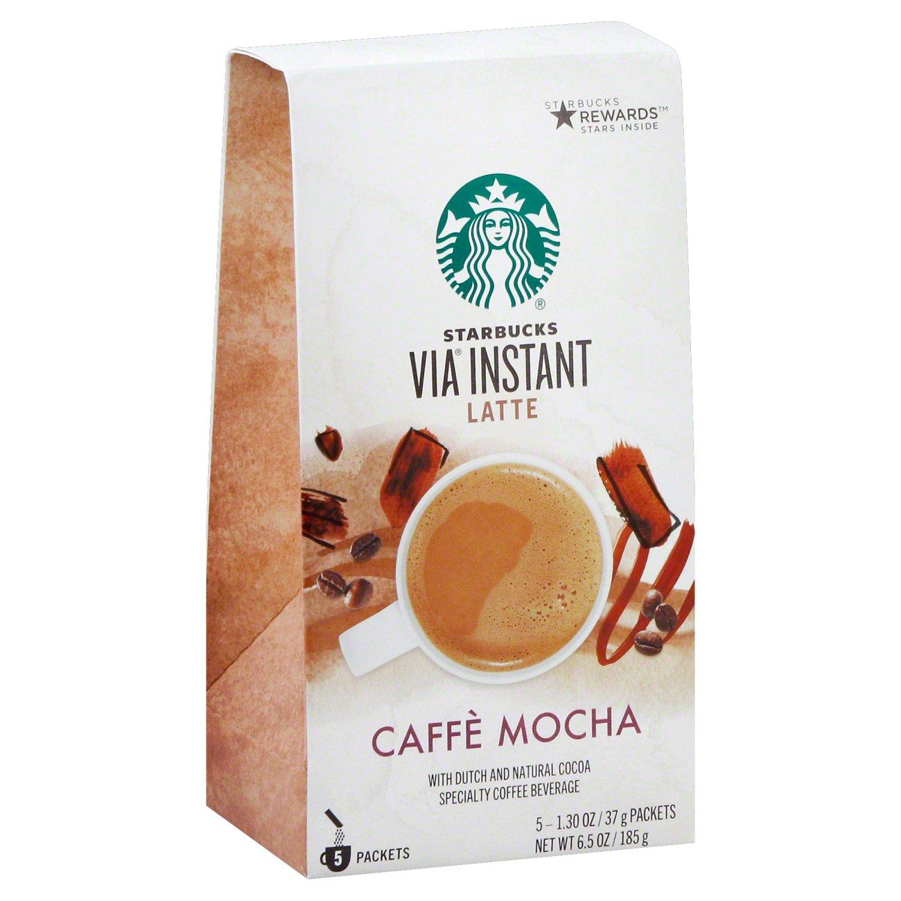 Starbucks Via Latte Caffe Mocha Instant Coffee Packets