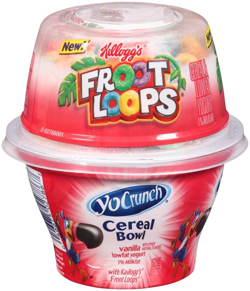 YoCrunch Cereal Bowl Vanilla Yogurt With Froot Loops
