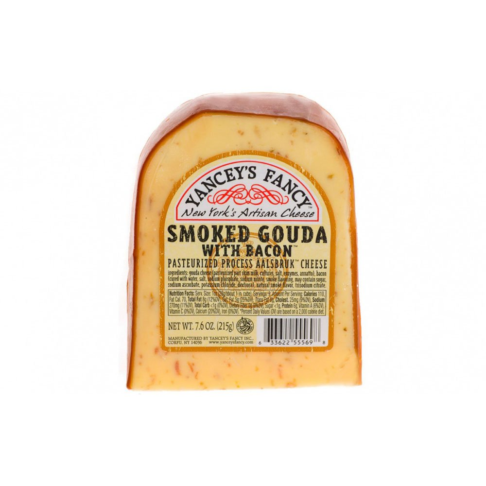Yancey S Fancy Smoked Gouda Cheese With Bacon Shop Cheese At H E B
