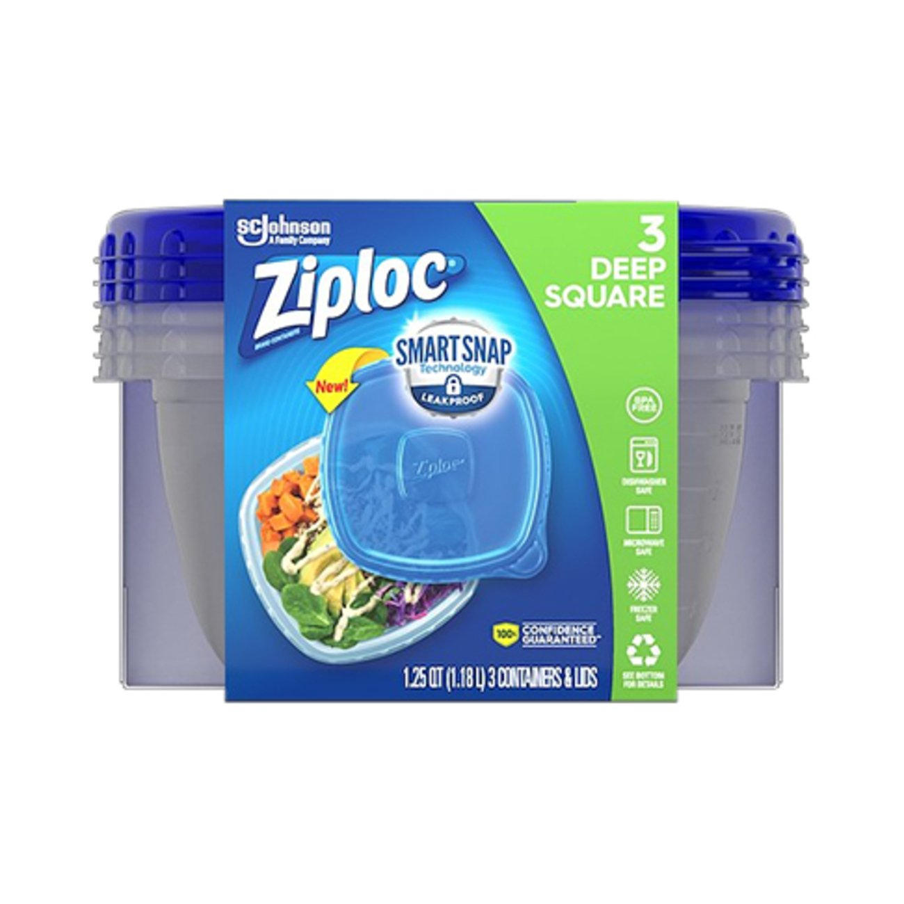 sc 1 st  HEB.com & Ziploc Medium Square Container - Shop Containers at HEB