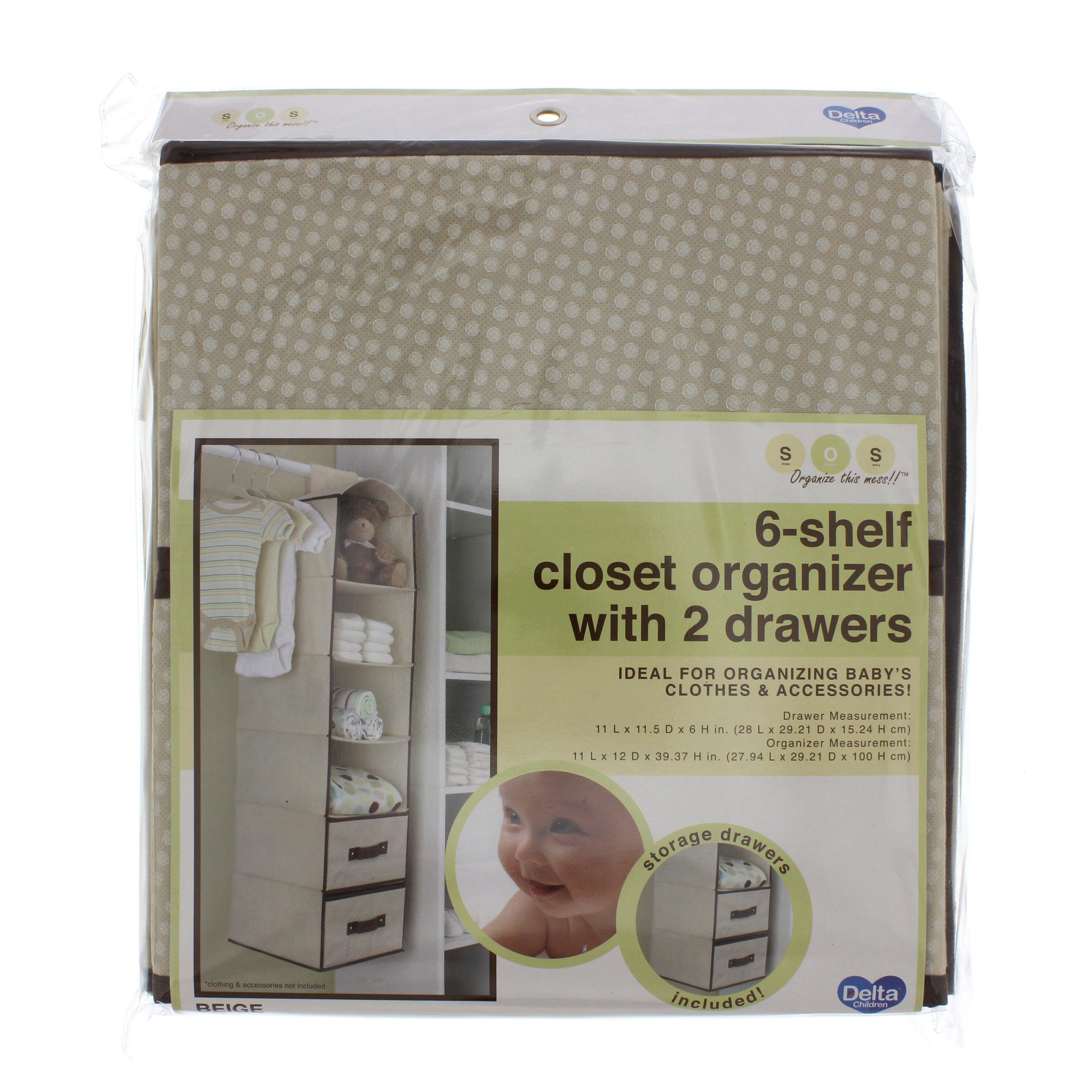 Charmant Delta Children 6 Shelf Closet Organizer With 2 Drawers   Shop Nursery  Accessories At HEB