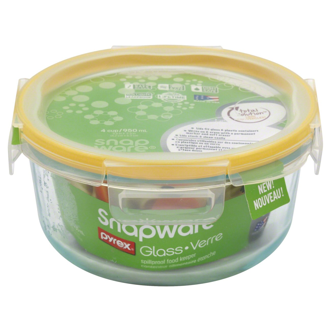 Snapware Medium Round Glass Food Storage Container Shop Containers
