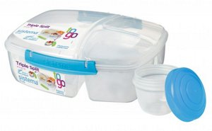 Sistema Triple Split Lunch To Go Container Roll Over Image Zoom In