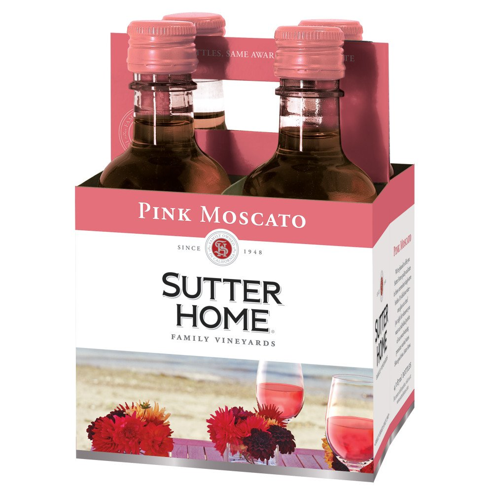 Sutter Home Family Vineyards Pink Moscato 187 Ml Bottles Shop Wine At H E B