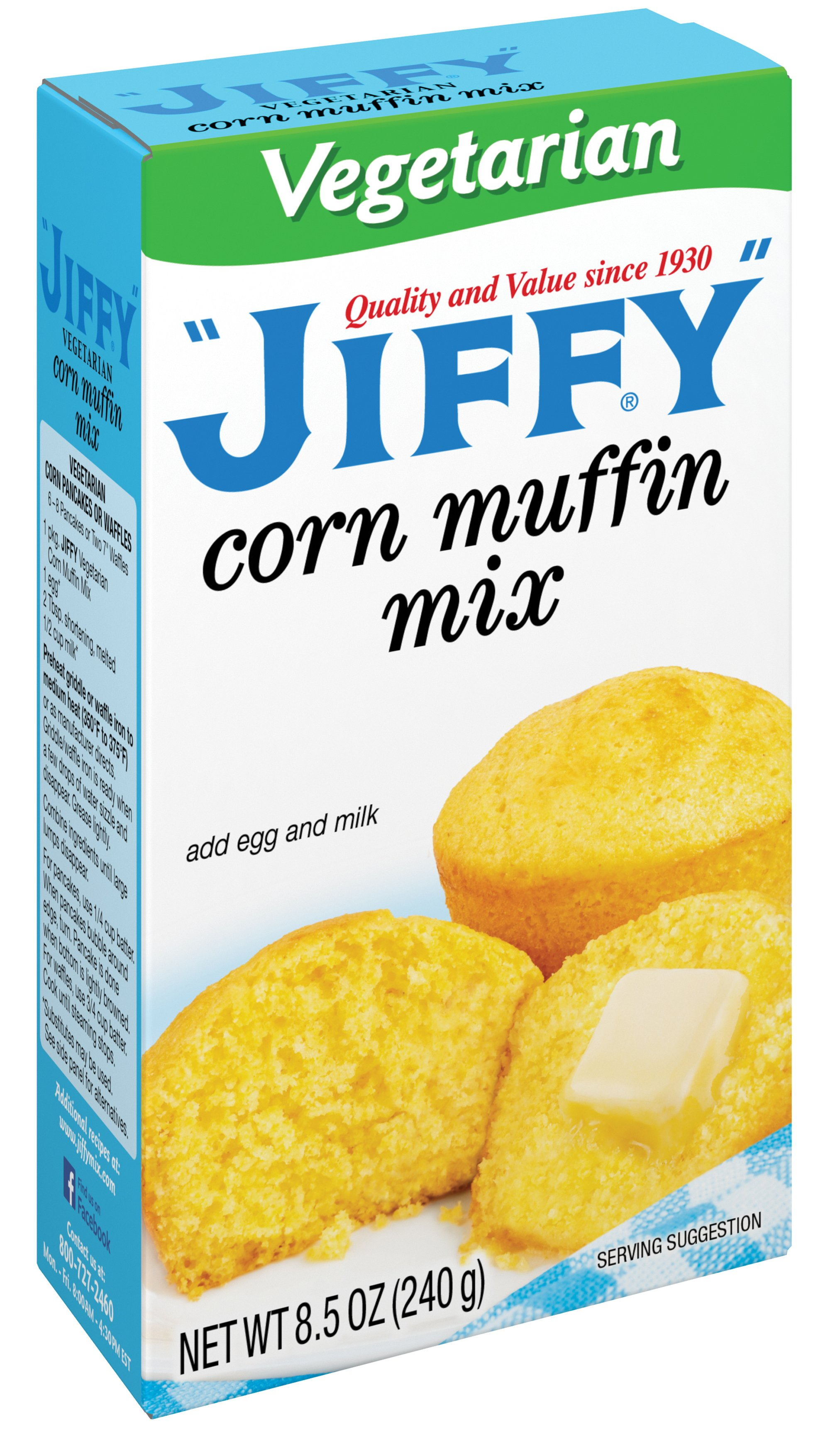Jiffy Vegetarian Corn Muffin Mix Shop Baking Mixes At H E B