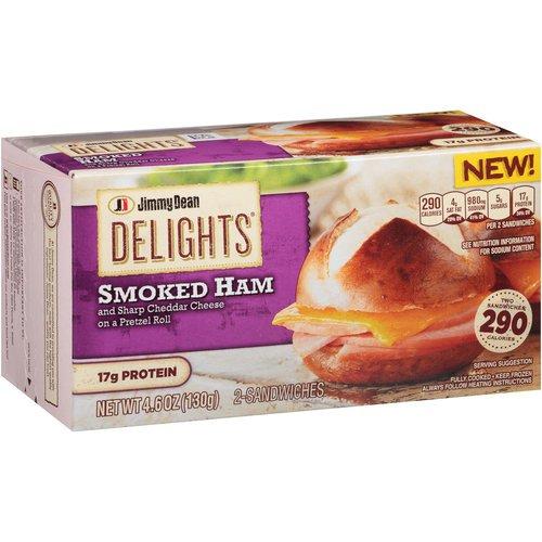 Jimmy Dean Delights Ham Cheese Pretzel Sandwich Shop Single
