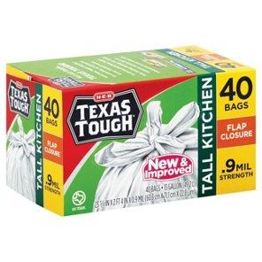 heb texas tough flap closure tall kitchen 13 gallon trash bags shop trash bags at heb - Tall Kitchen Trash Bags