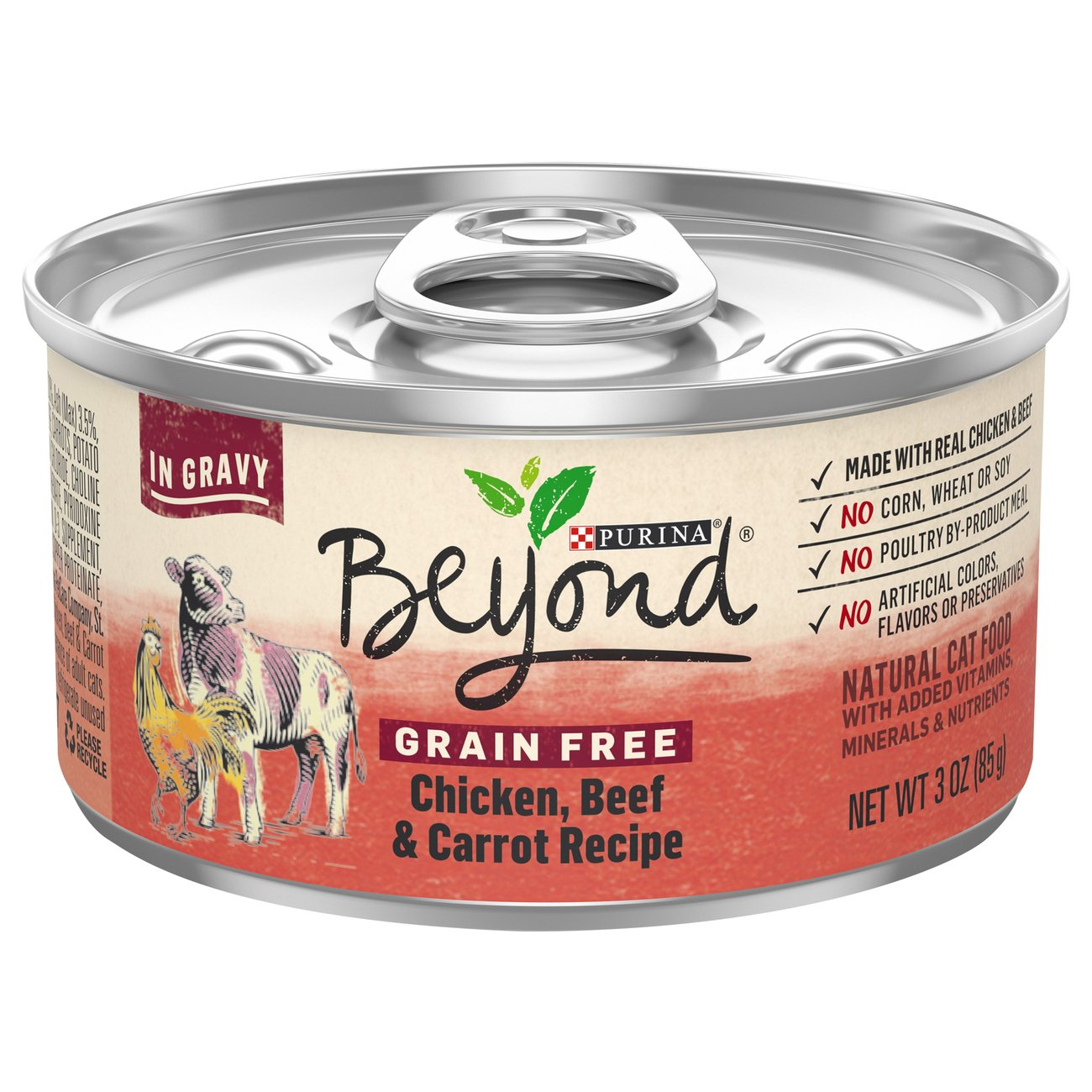Purina Beyond Cat Food >> Purina Beyond Grain Free Chicken Beef Carrot Recipe Cat Food