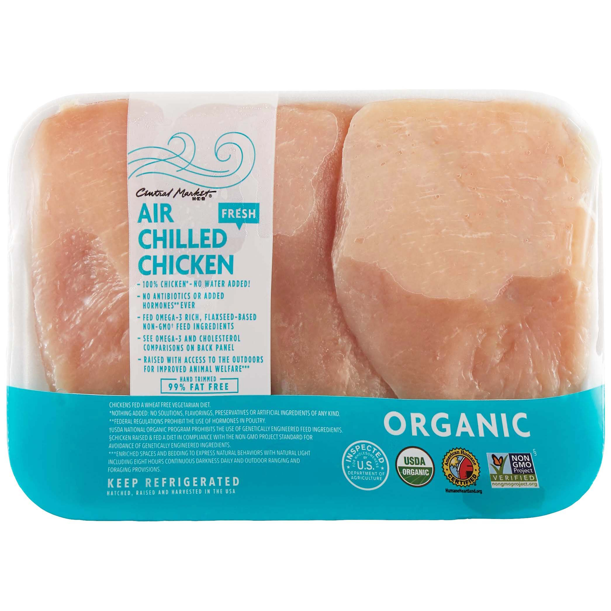Central Market Air-Chilled Organic Chicken Breast Cutlet