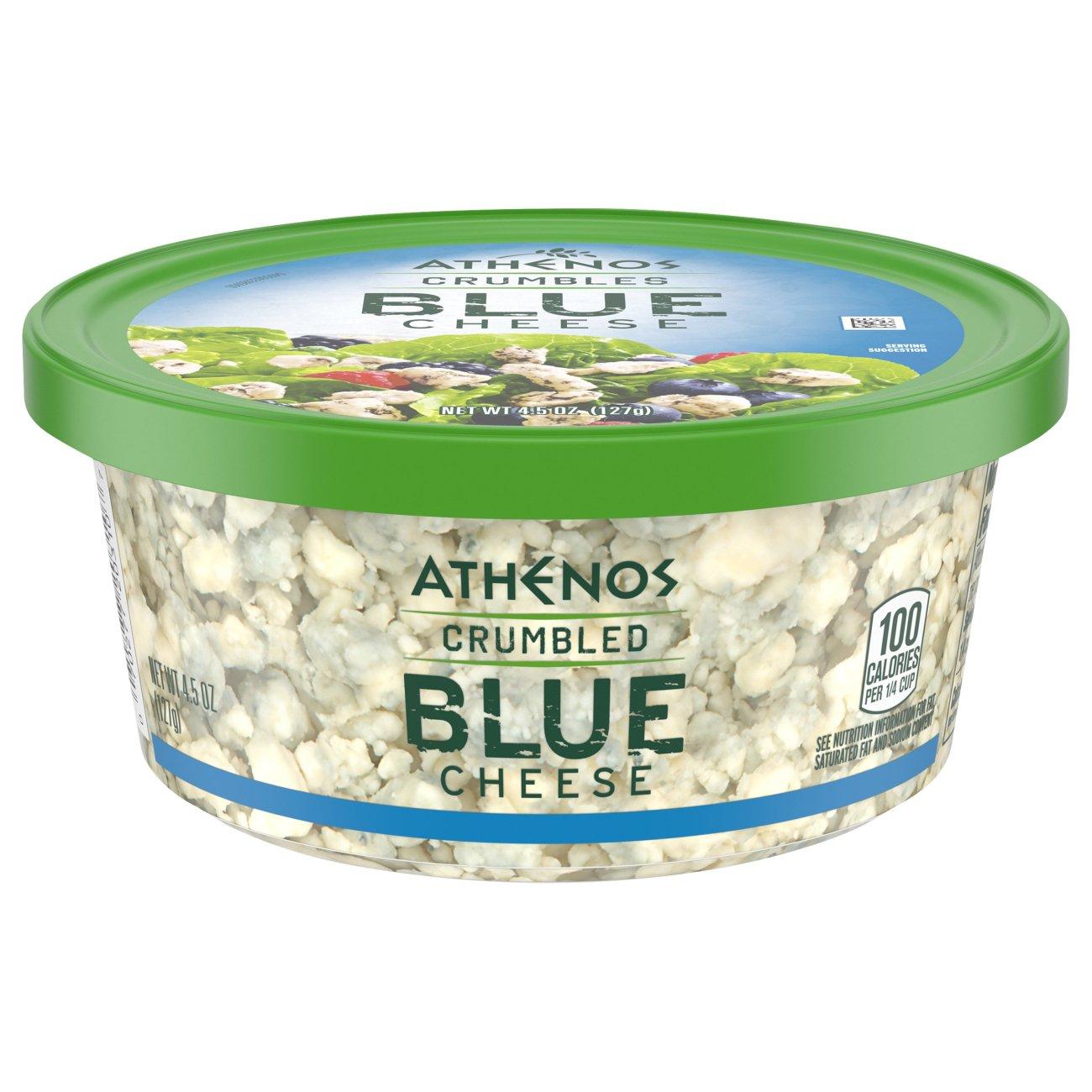 Athenos Crumbled Blue Cheese - Shop Cheese at H-E-B
