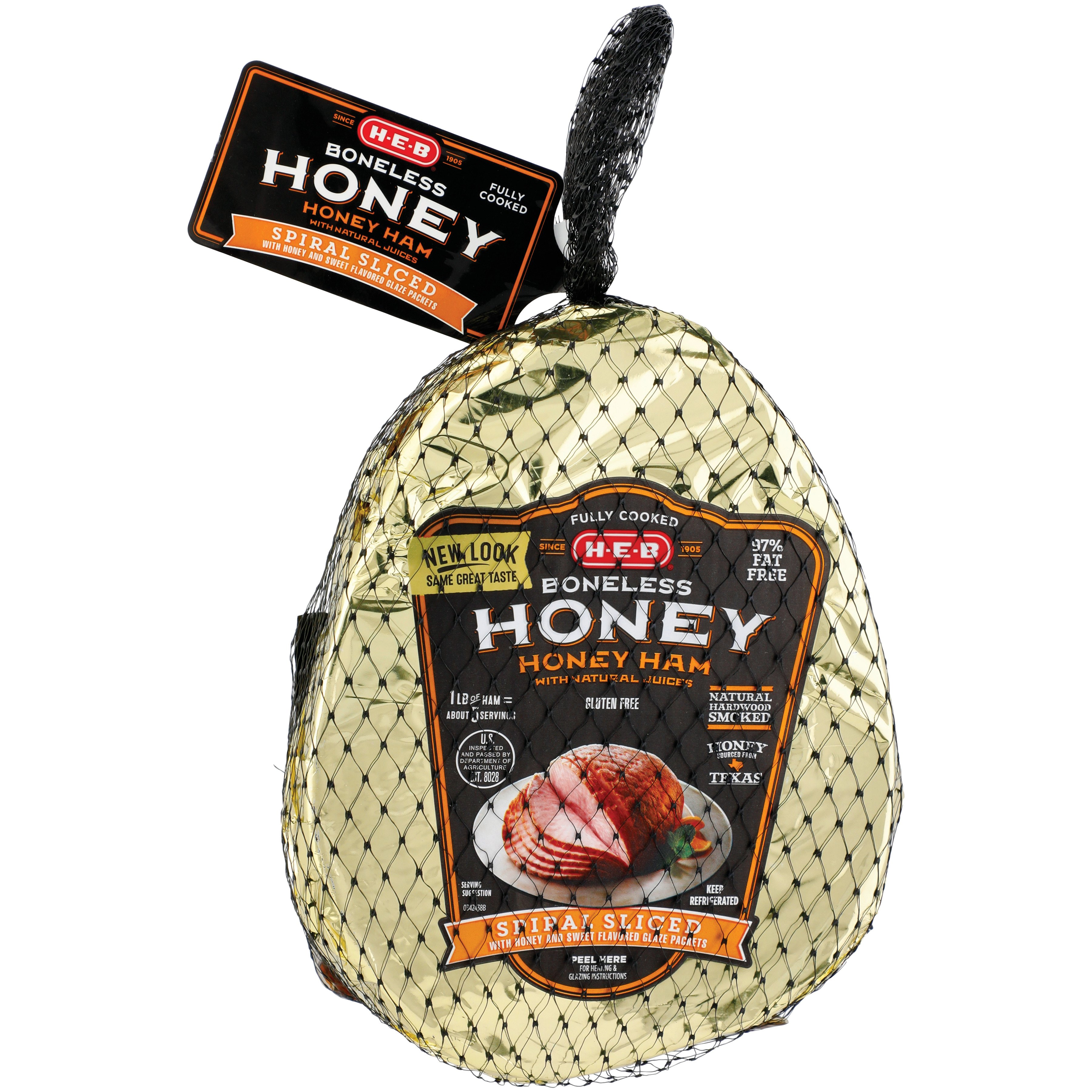 Heb Fully Cooked Boneless Spiral Sliced Honey Cured Ham Shop