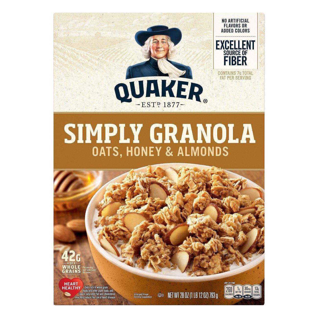Quaker Simply Granola Oats Honey