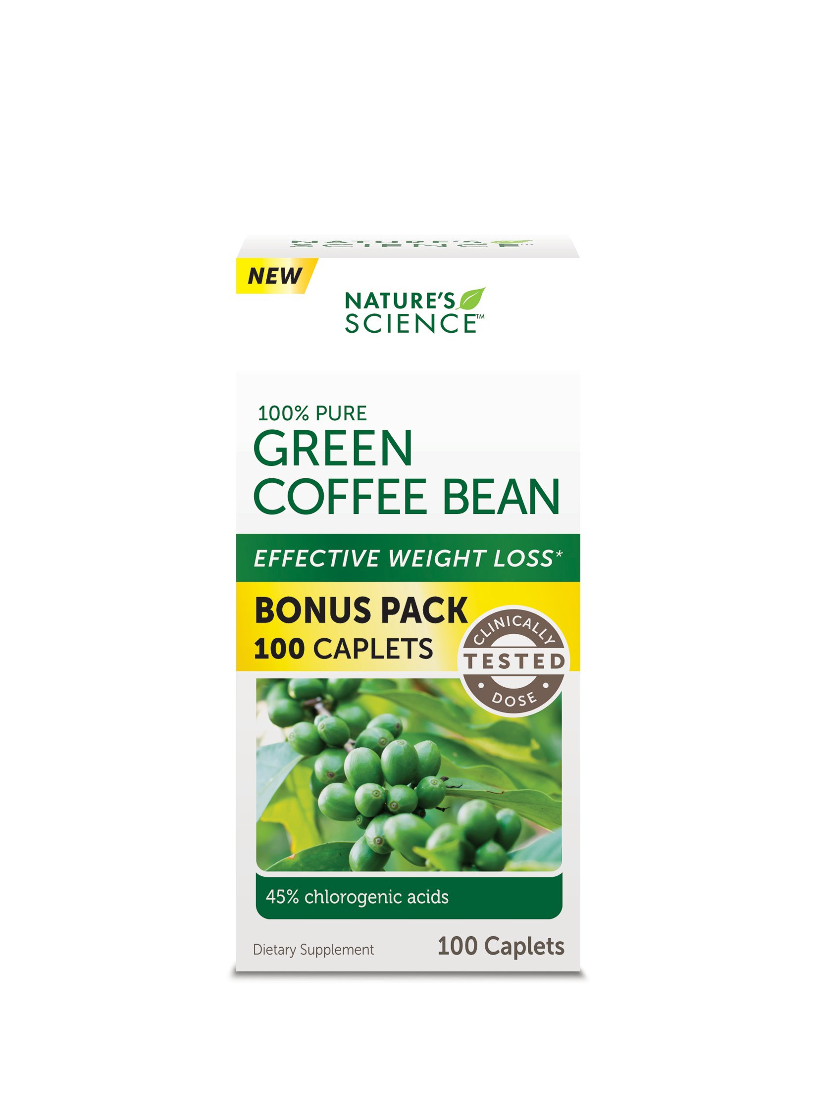 Nature S Science Green Coffee Bean Caplets Shop Diet Fitness