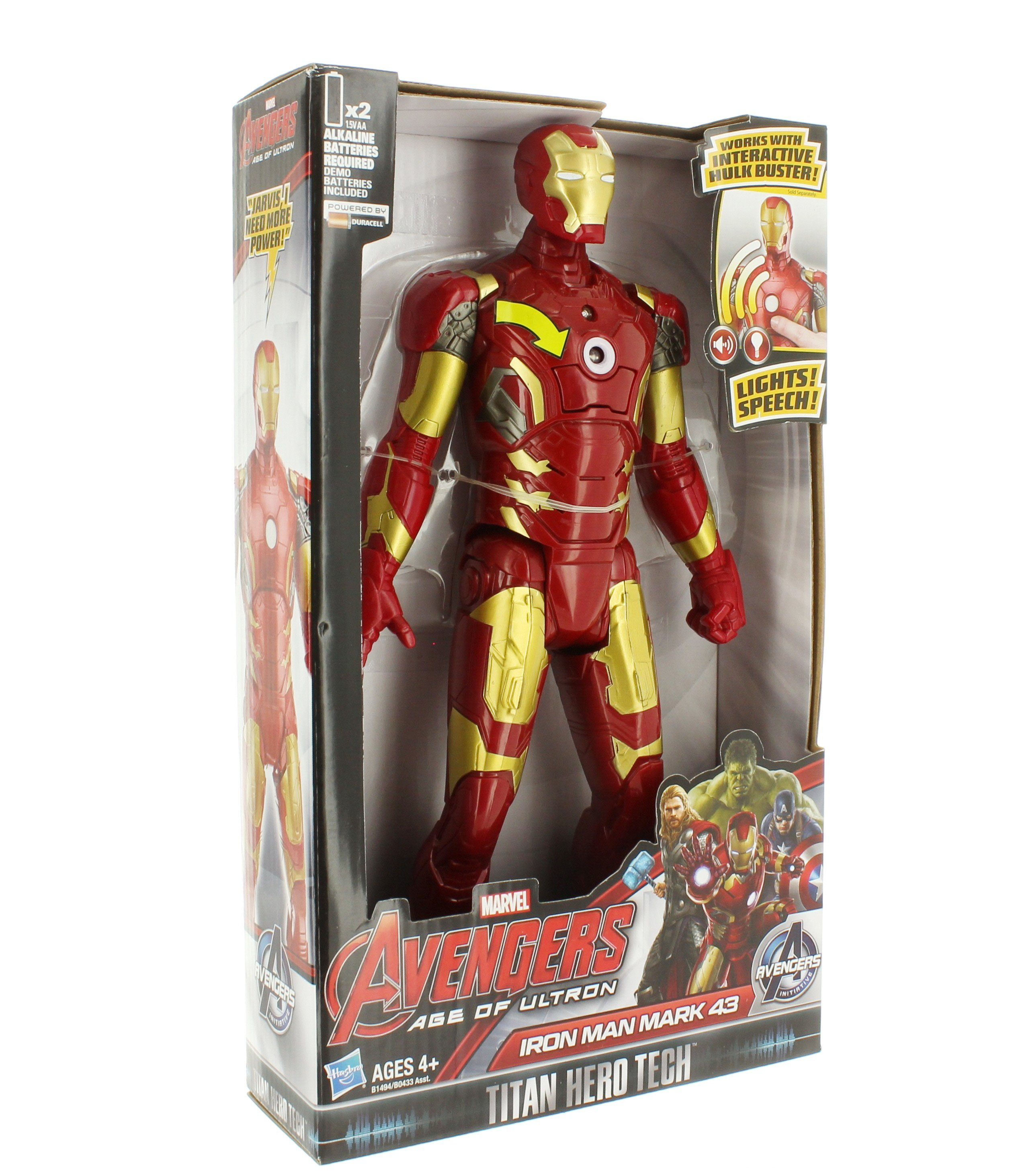Hasbro Avengers Titan Hero Tech Thor Age of Ultron Electronic Sound Figure Toy