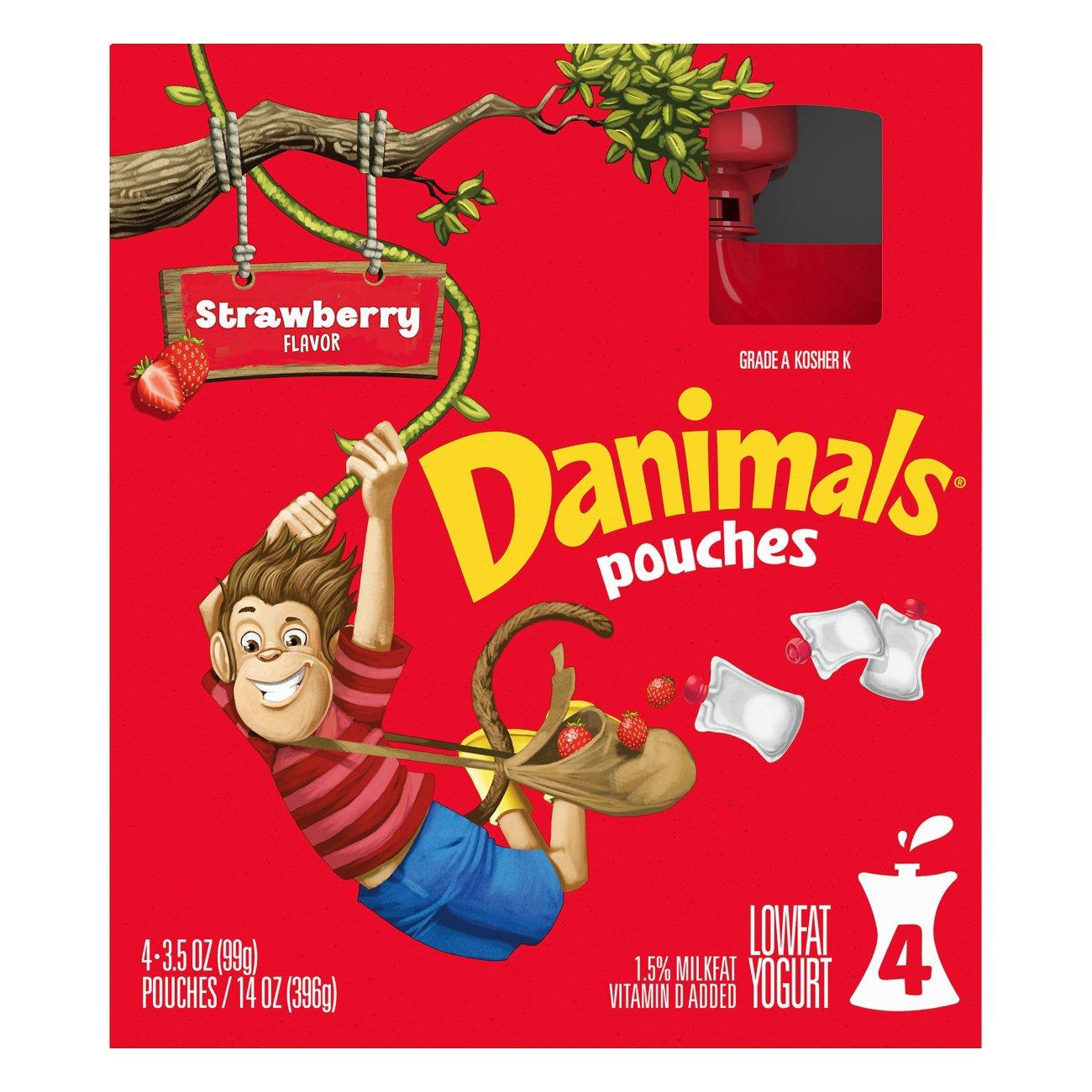 Dannon Danimals Squeezables Low‑Fat