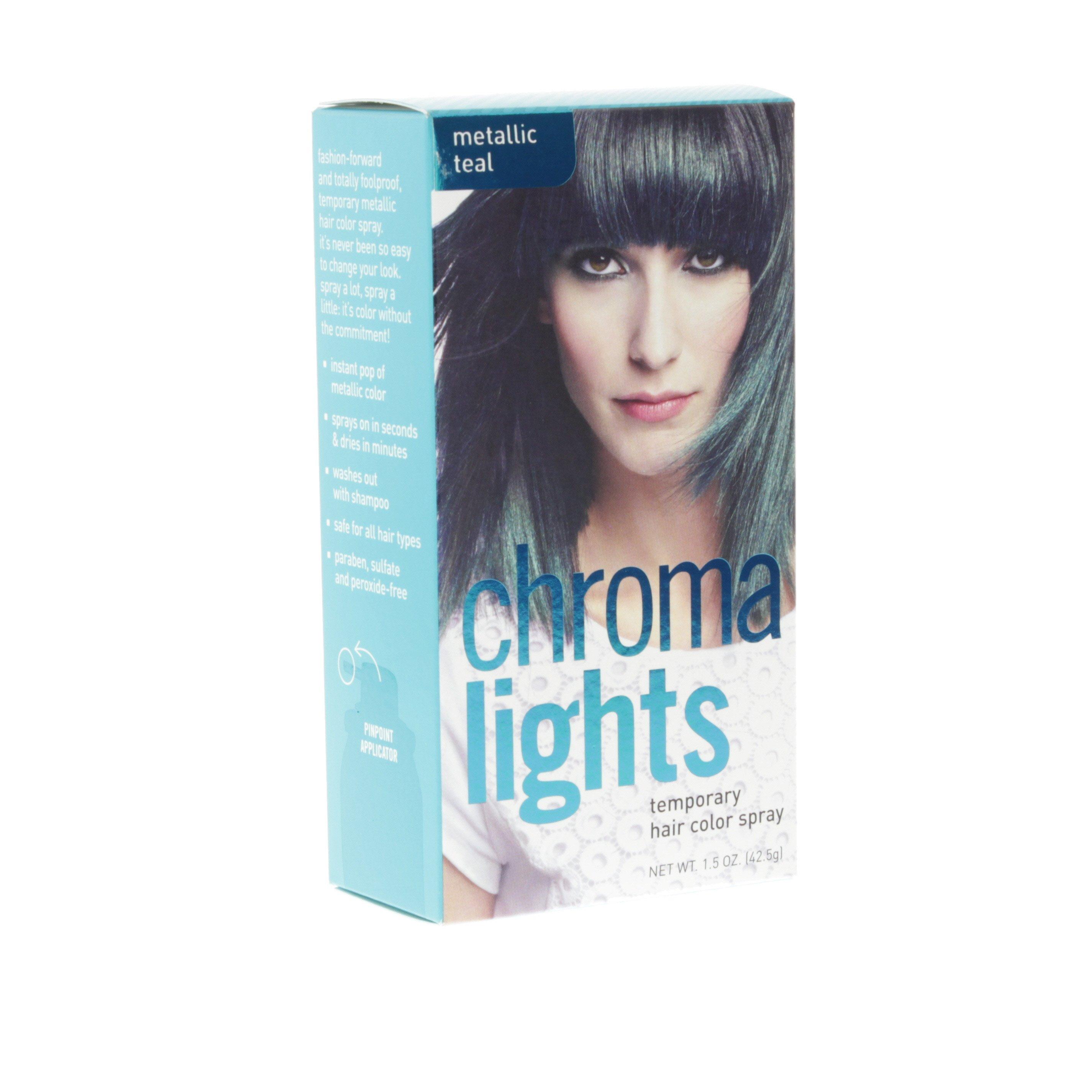 Chromalights Temporary Hair Color Spray Metallic Teal Shop
