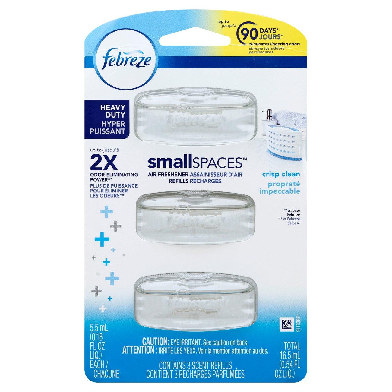 Febreze Small Spaces Heavy Duty Crisp Clean Refills - Shop Candles ...