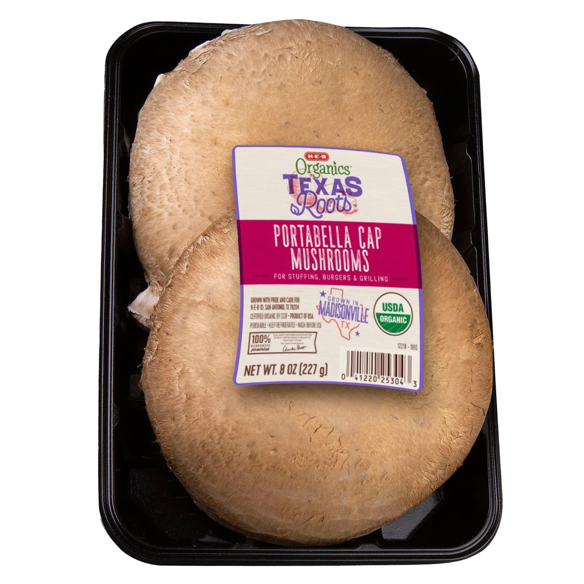 H E B Texas Roots Organic Portabella Cap Mushrooms Shop Mushrooms At H E B