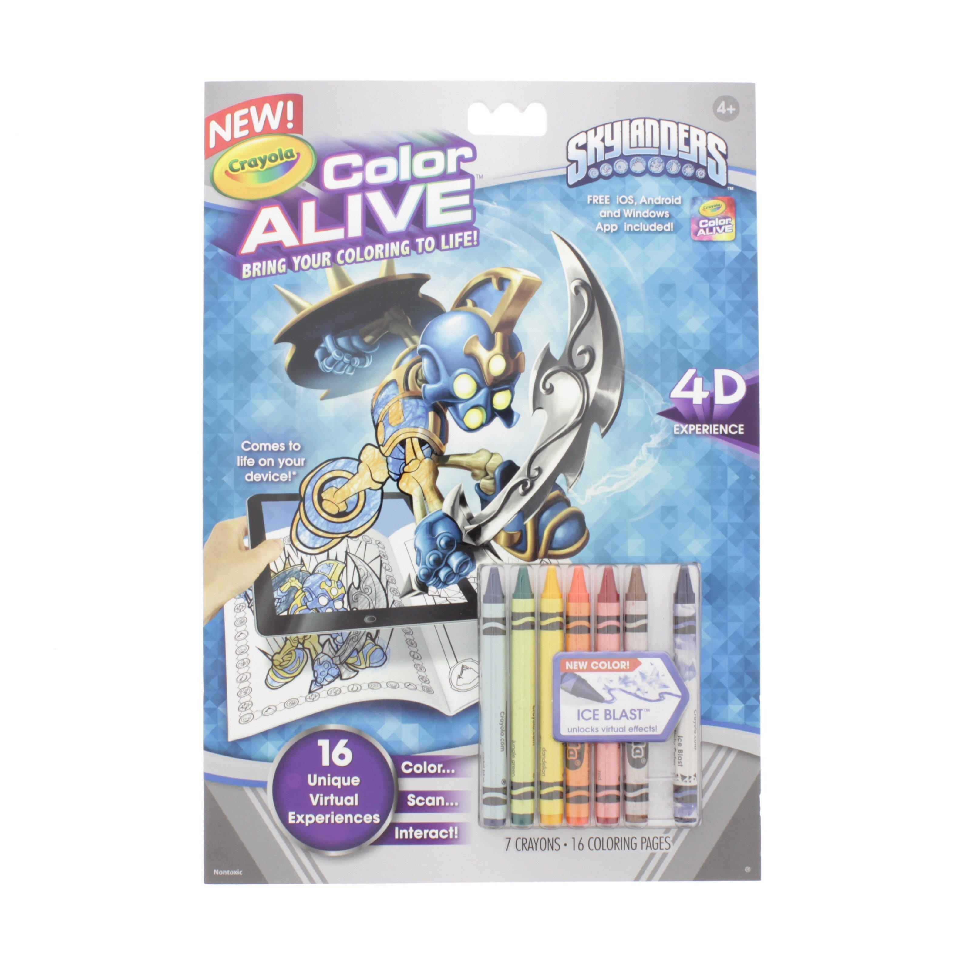 Crayola Color Alive Skylanders Coloring Book - Shop Craft Supplies ...