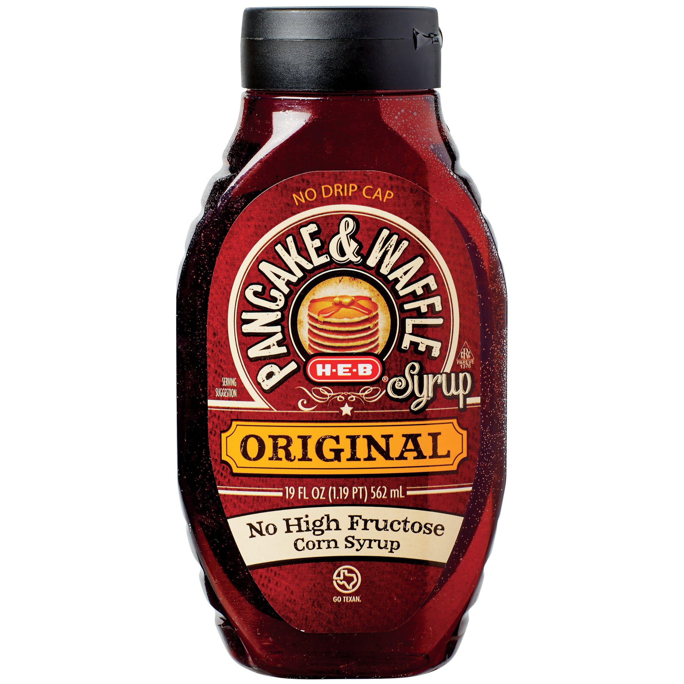H E B Original Pancake Waffle Syrup Shop Syrup At H E B