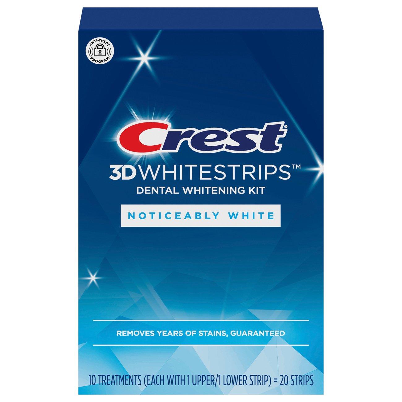 Crest Noticeably White Whitestrips Dental Whitening Kit ‑ Shop