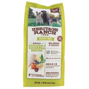 H‑E‑B Heritage Ranch Grain Free Chicken & Chickpea Recipe Dry Dog Food ‑  Shop Dry at HEB