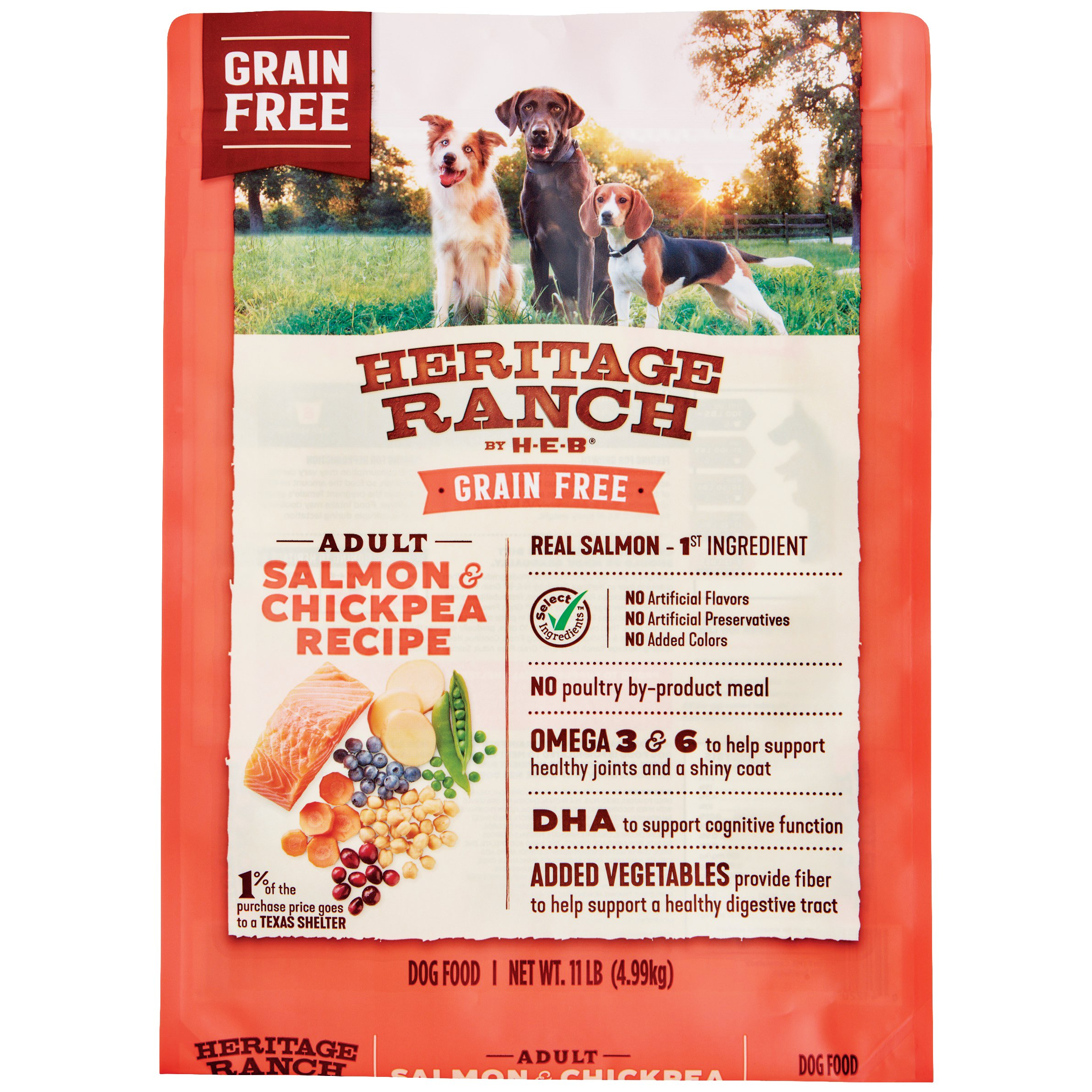 H‑E‑B Heritage Ranch Grain Free Salmon & Chickpea Recipe Dry Dog Food ‑  Shop Dry at HEB