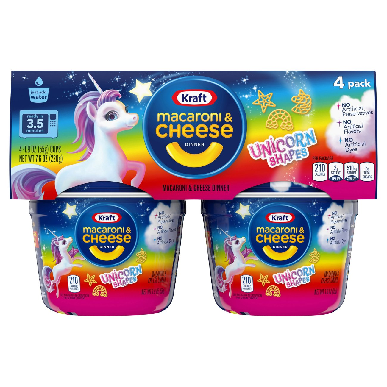 Unicorn Shapes Macaroni Cheese Cups