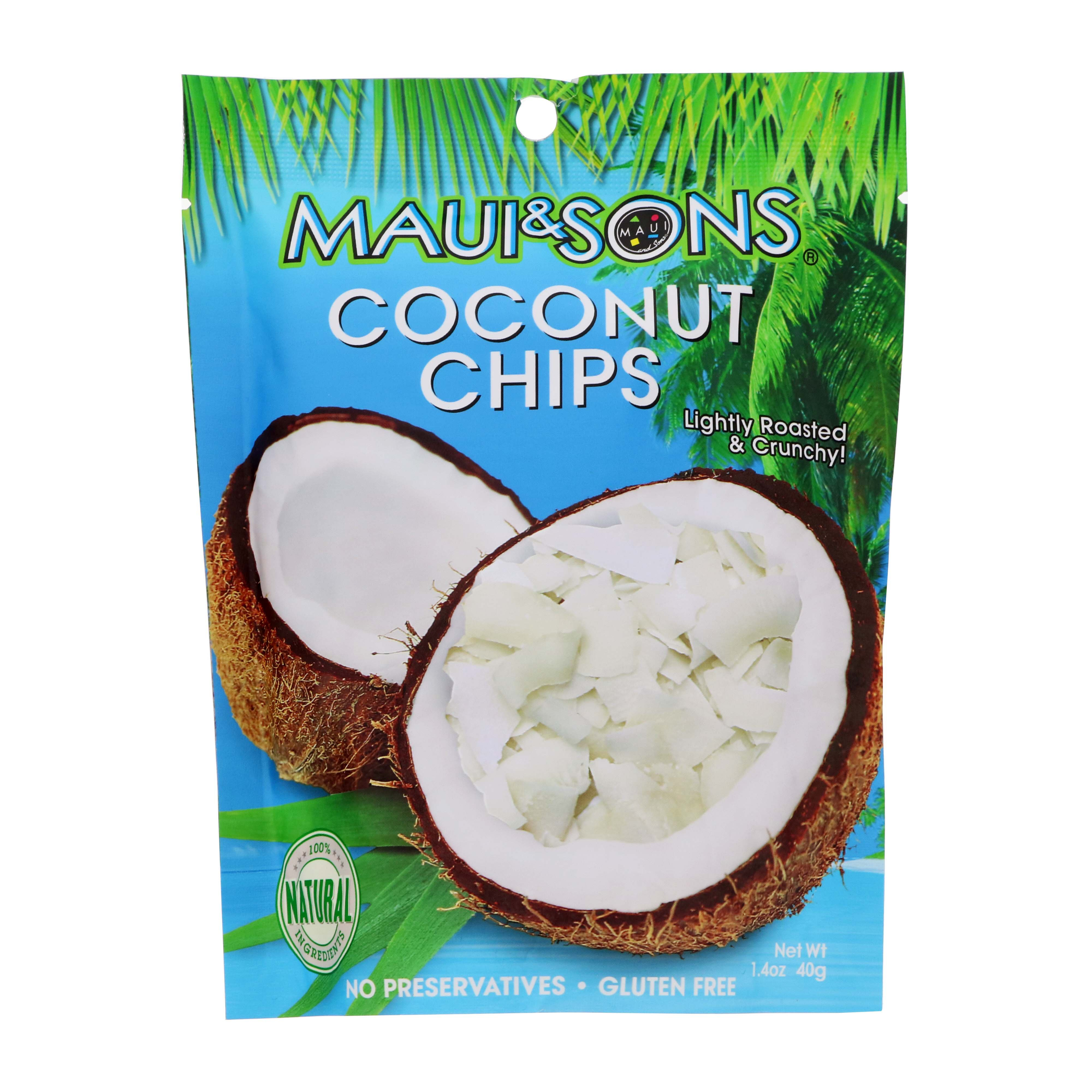 Maui & Sons Coconut Chips Lightly Roasted & Crunchy - Shop Dried ...