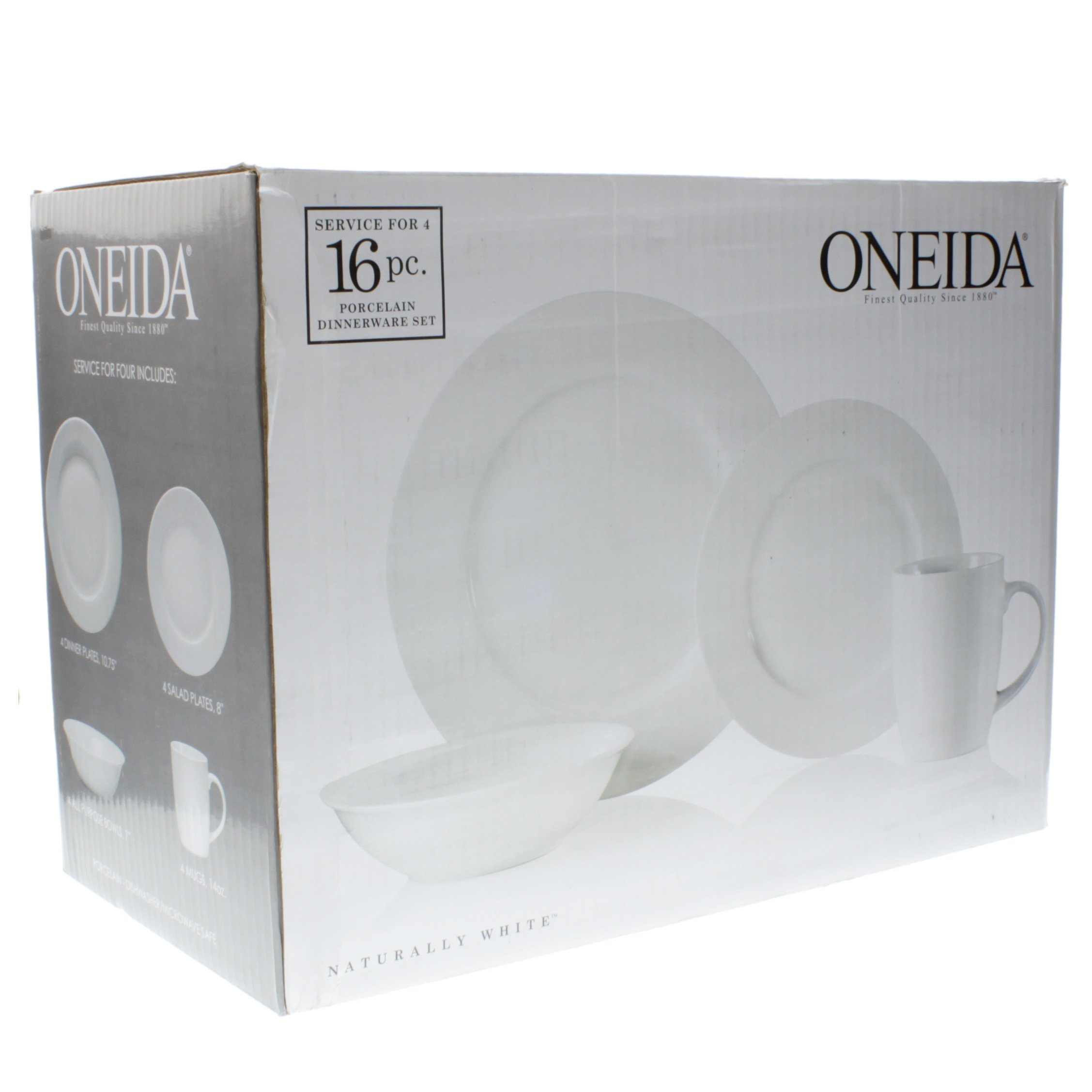 Oneida Naturally White Porcelain Dinnerware Set - Shop Dishes at HEB