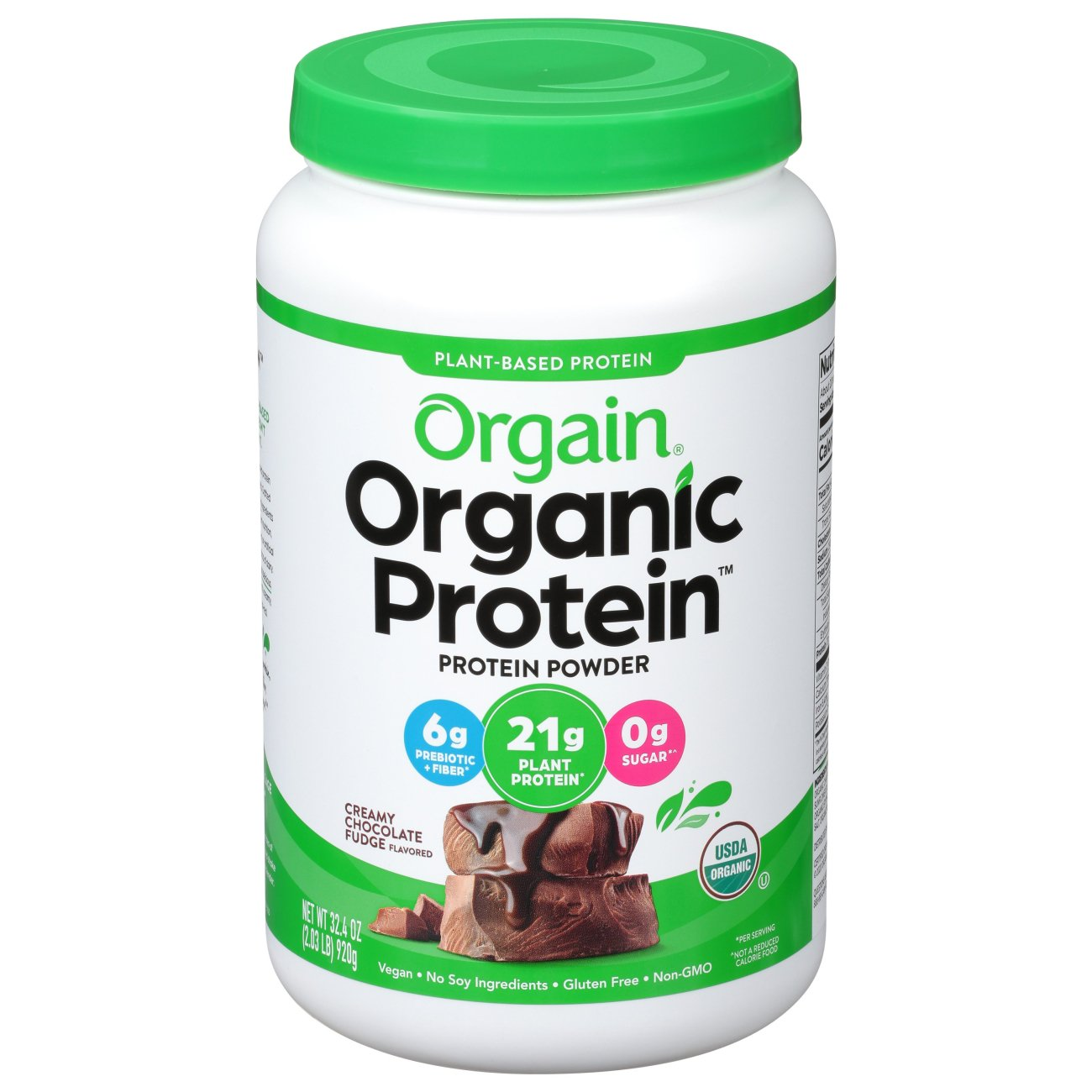 Orgain Organic Protein Plant Based Protein Powder Chocolate - Shop Diet &  Fitness at H-E-B