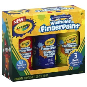 crayola washable finger paint primary colors shop craft supplies