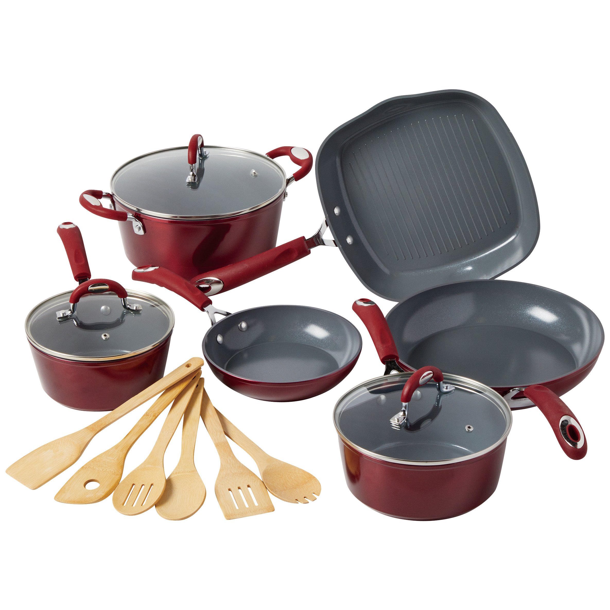 Kitchen and Table Red Cookware Set - Shop Cooking Sets at HEB