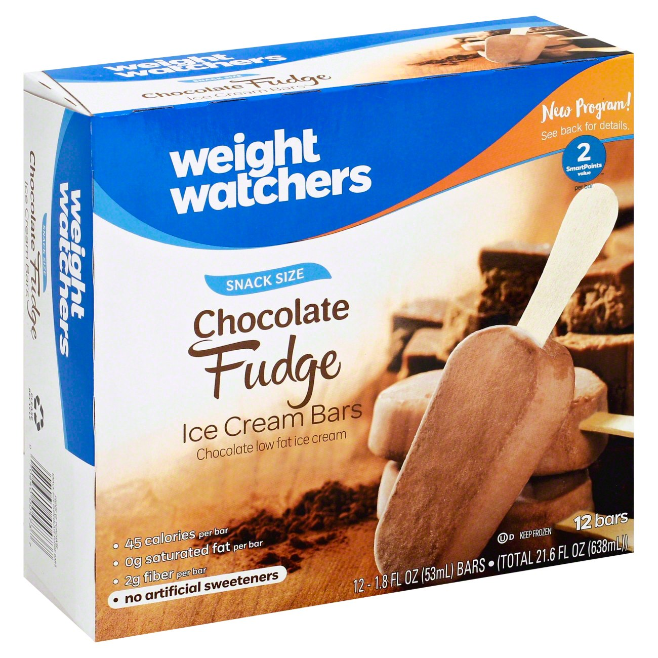 Weight Watchers Snack Size Chocolate Fudge Bars Shop Bars Pops