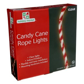 Holiday market clear candy cane rope lights shop holiday decor holiday market clear candy cane rope lights shop holiday decor at heb aloadofball Image collections