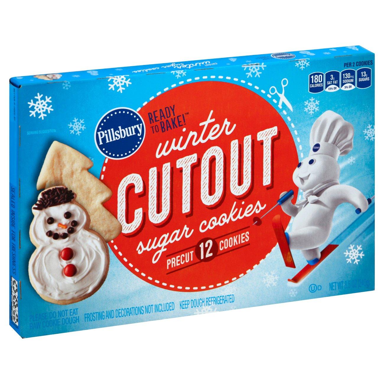 Pillsbury Christmas Cookies.Pillsbury Winter Holiday Pre Cut Sugar Cookies