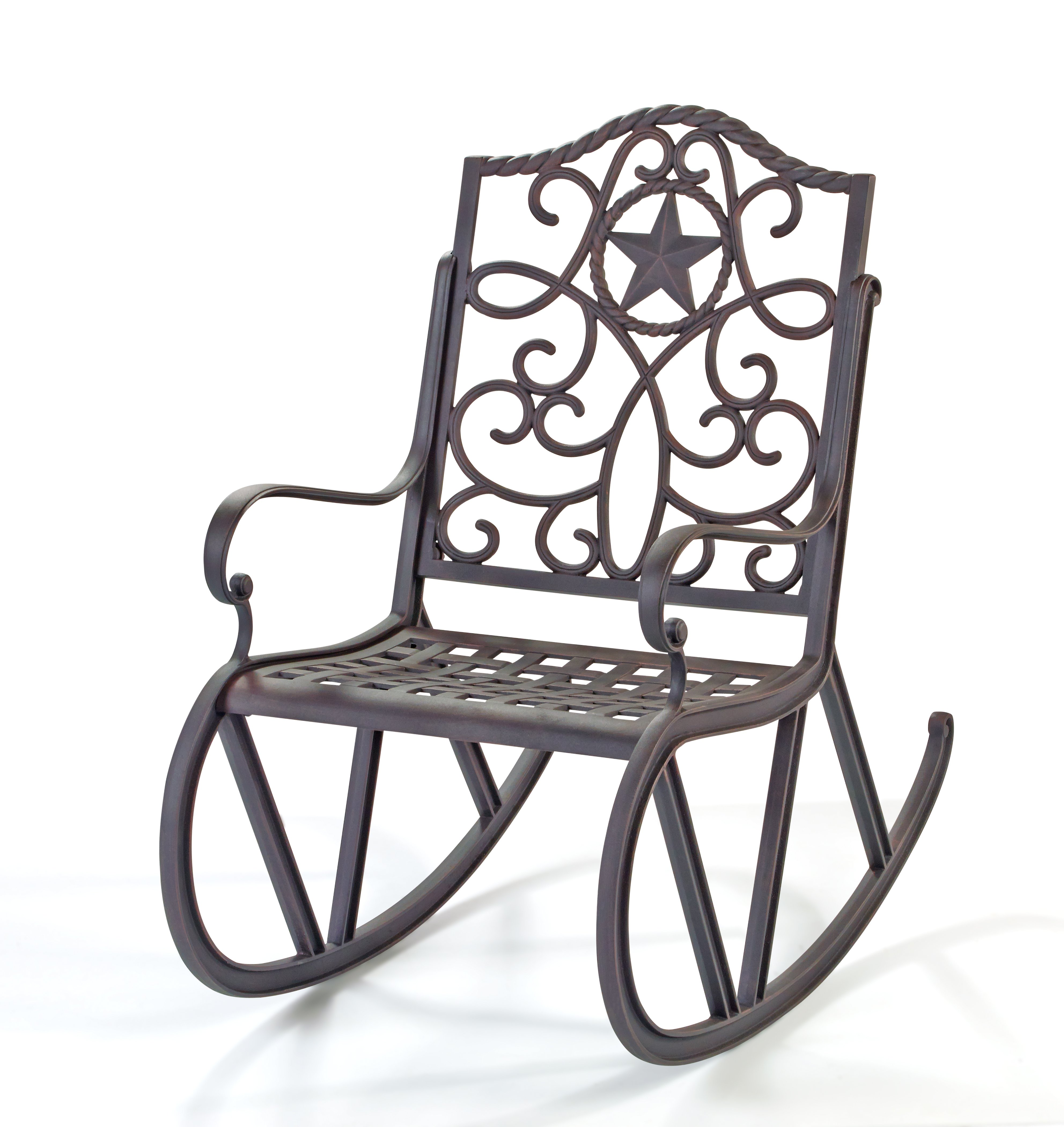 Hu2011Eu2011B Texas Backyard Riata III Single Scroll Rocker U2011 Shop Furniture At HEB