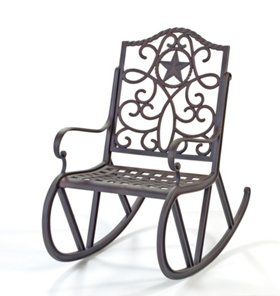 H E B Texas Backyard Riata Iii Single Scroll Rocker Furniture At Heb