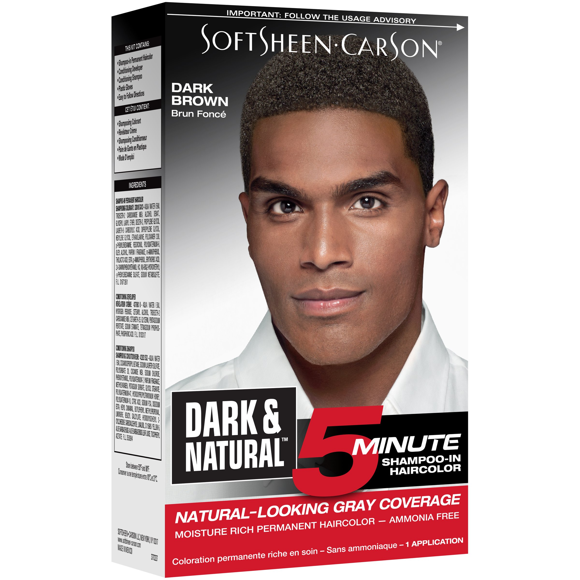 Softsheen Carson Dark Natural 5 Minute Shampoo In Haircolor Dark