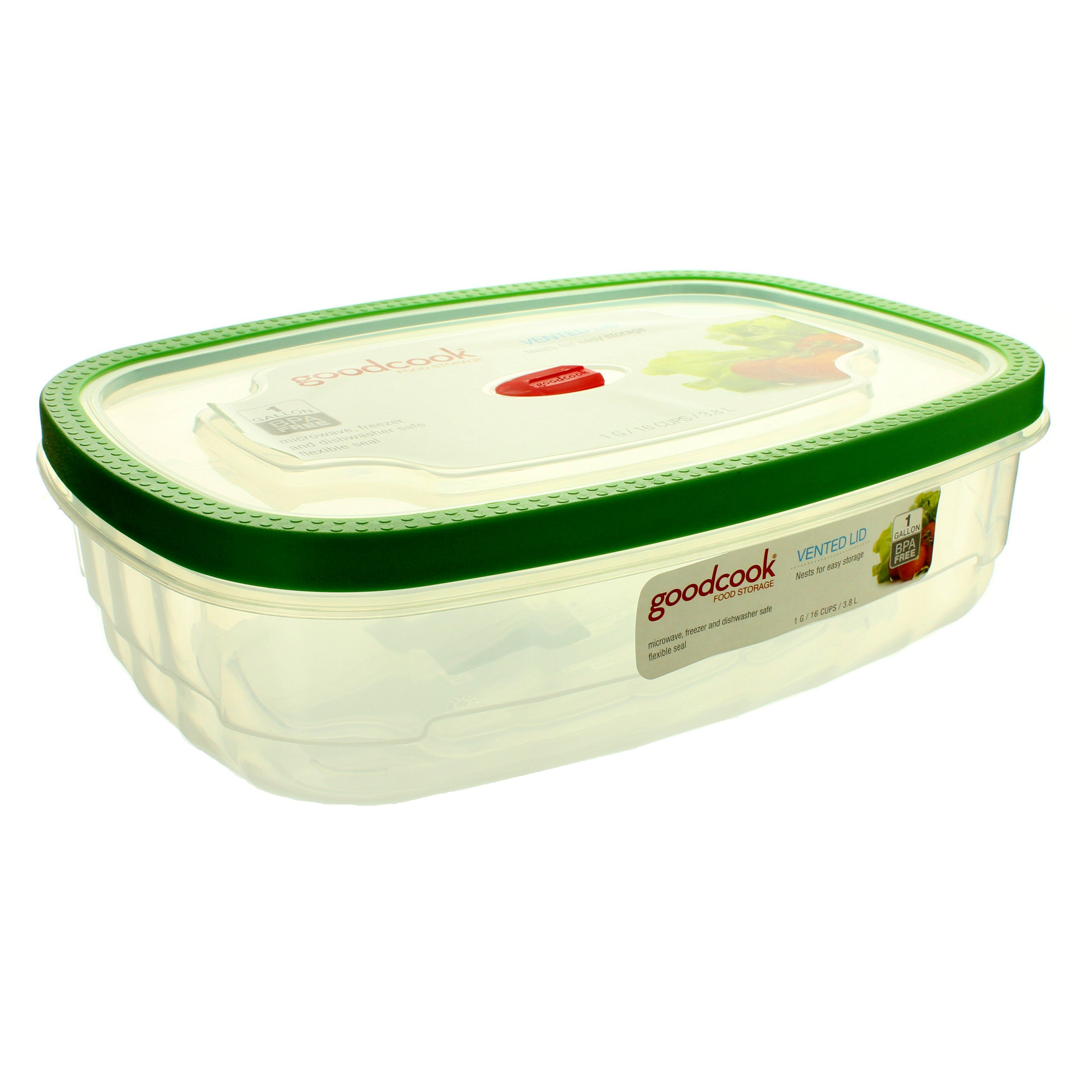 Good Cook Rectangular Food Storage Container With Vented Lid U2011 Shop Food  Storage At Hu2011Eu2011B