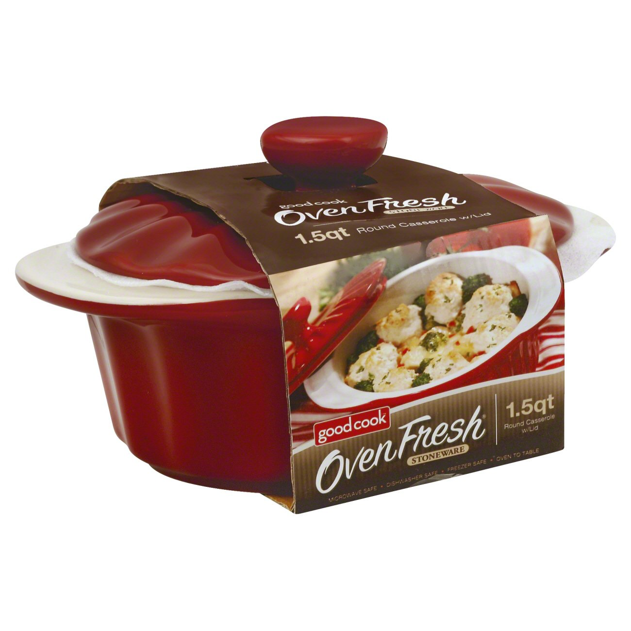 Good Cook Oven Fresh Ceramic Casserole With Lid - Shop Baking Dishes ...