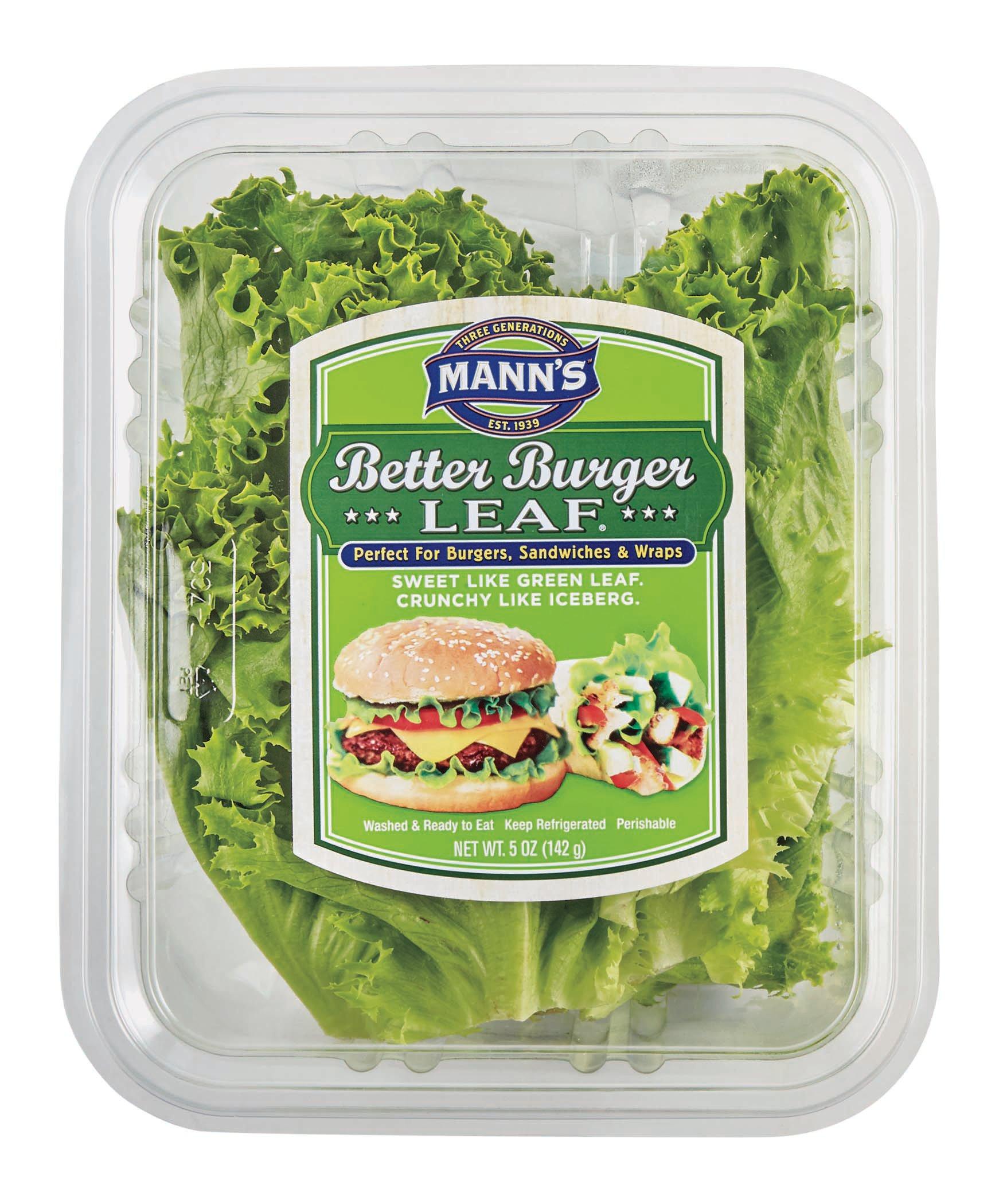 mann u0027s better burger leaf lettuce shop lettuce at heb