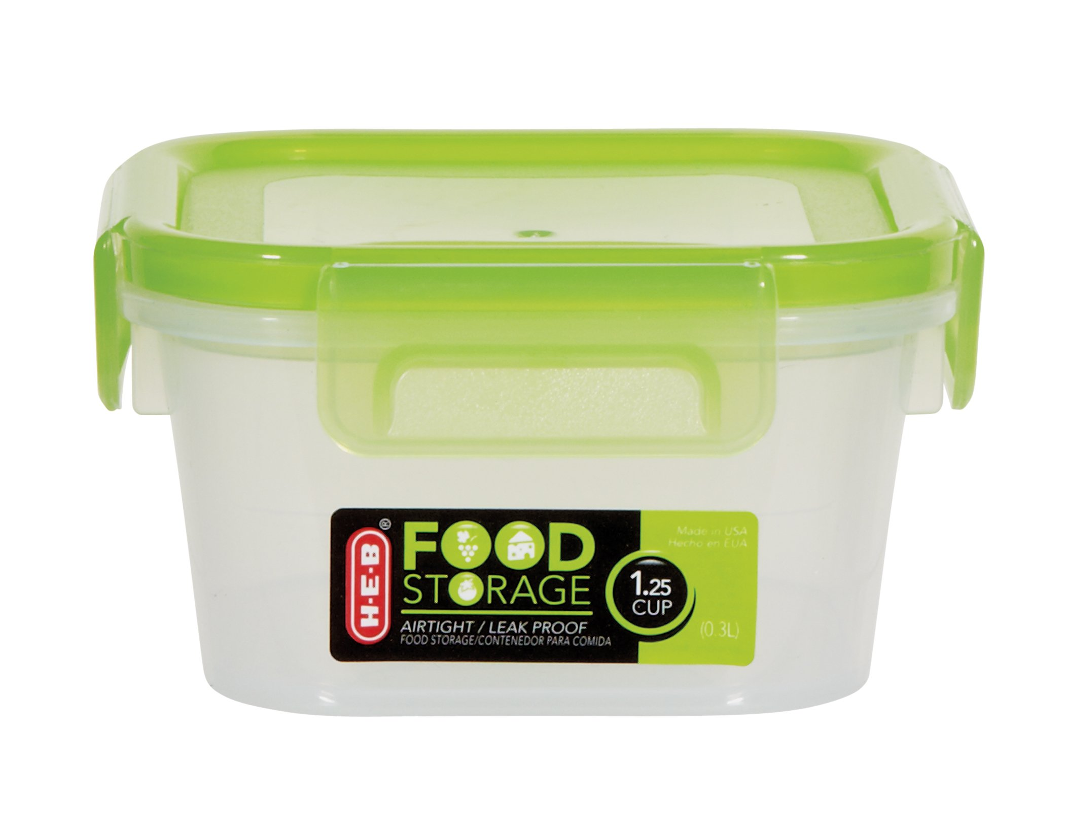 HEB 125 Cup Airtight Leak Proof Food Storage Container with Green
