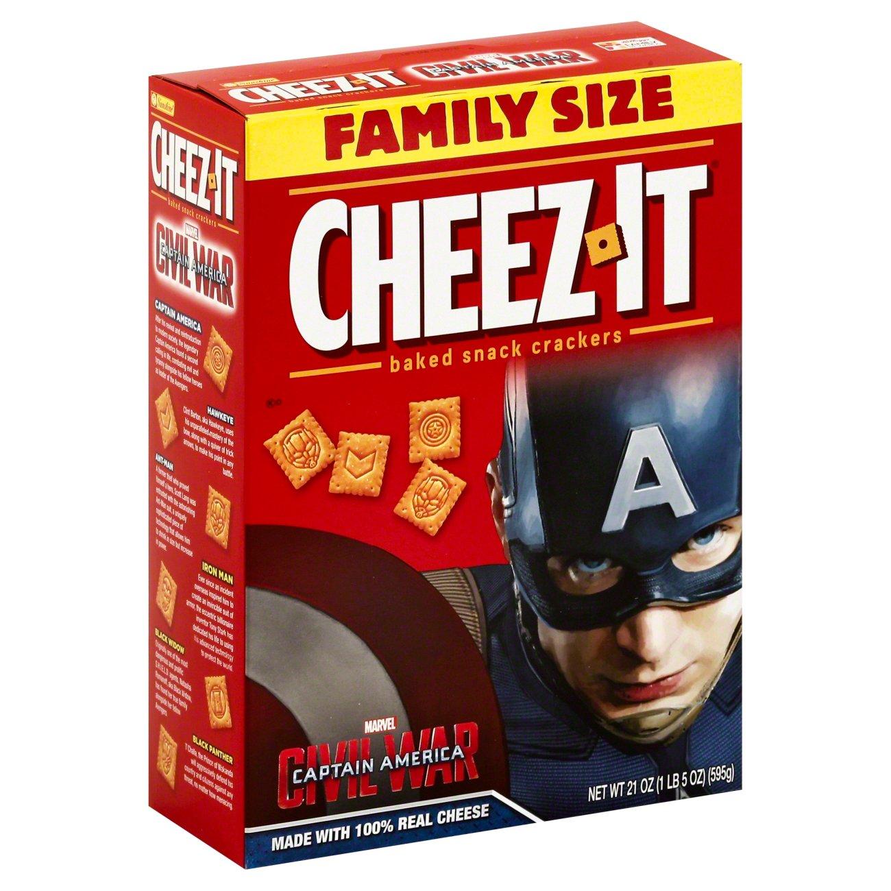 Sunshine Cheez‑It Captain America Family Size ‑ Shop