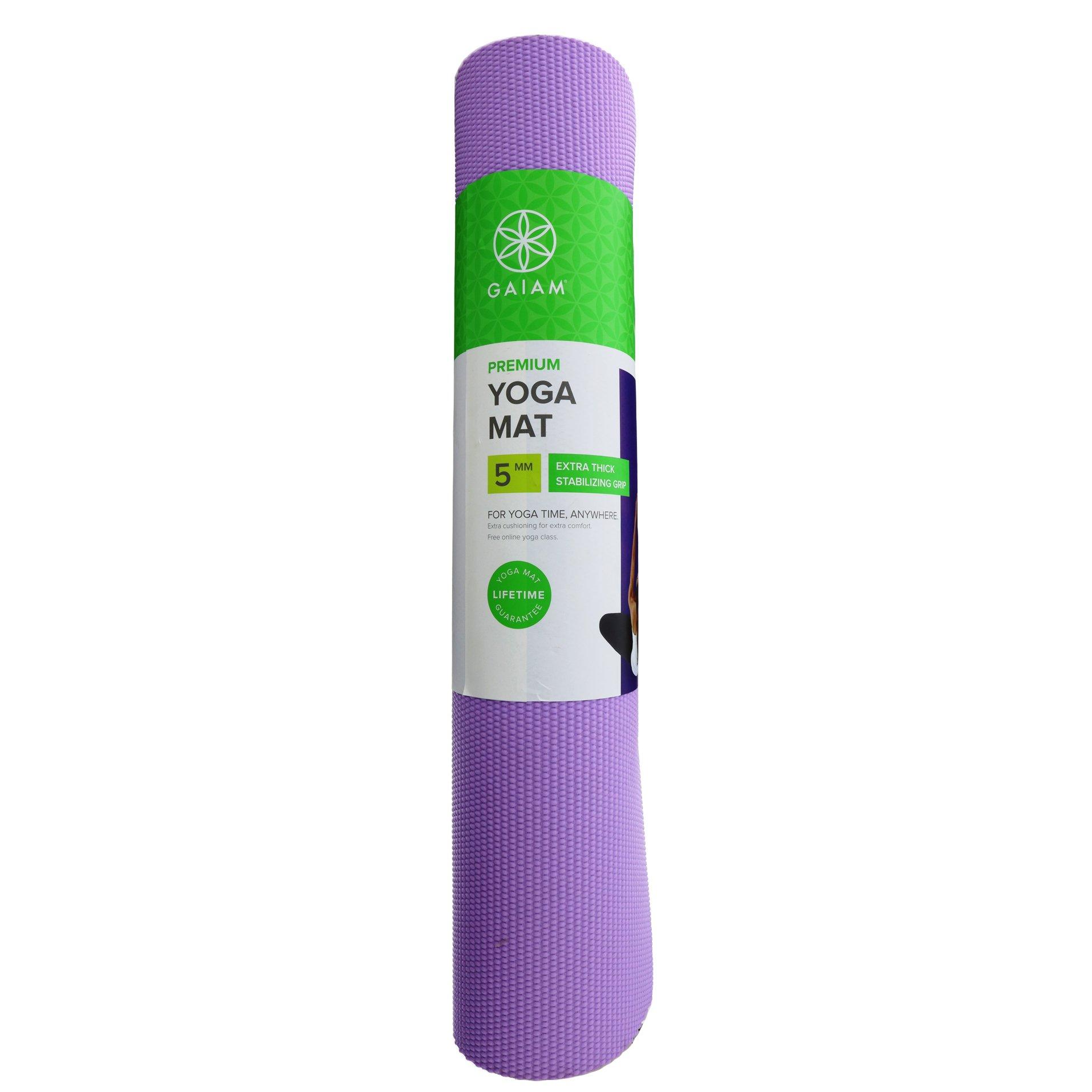 Gaiam Premium Purple Jam Yoga Mat Shop Fitness Sporting Goods At H E B