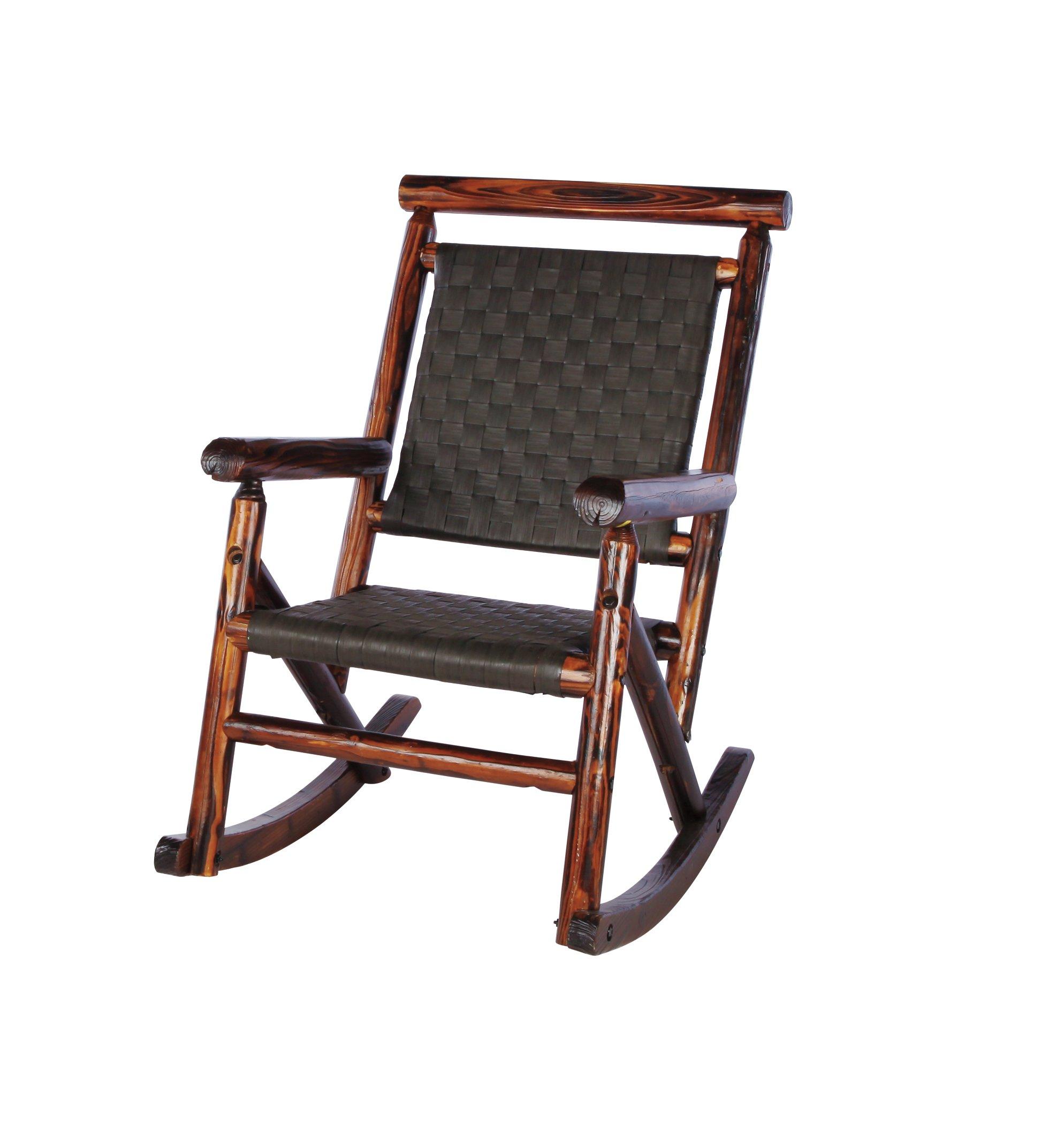 United General Supply Char Log Ranch Series Rocker   Shop Furniture At HEB