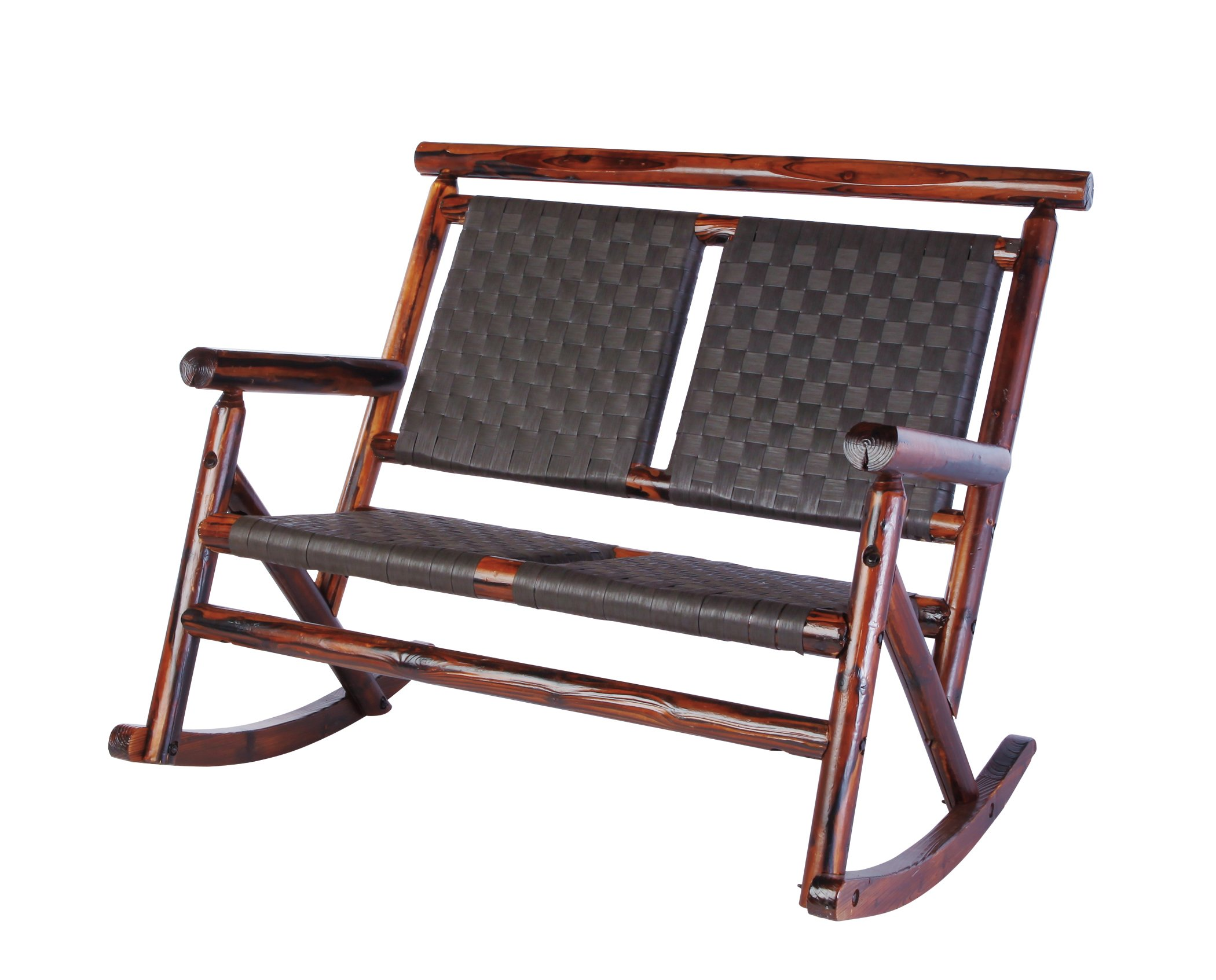 United General Supply Char Log Ranch Series Double Rocker   Shop Furniture  At HEB