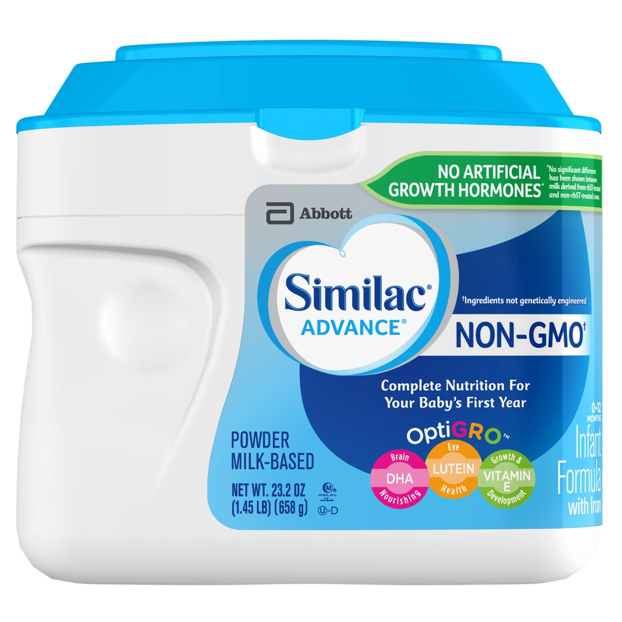 Similac Advance Non-GMO Infant Formula Powder With Iron (0-12 Months ...