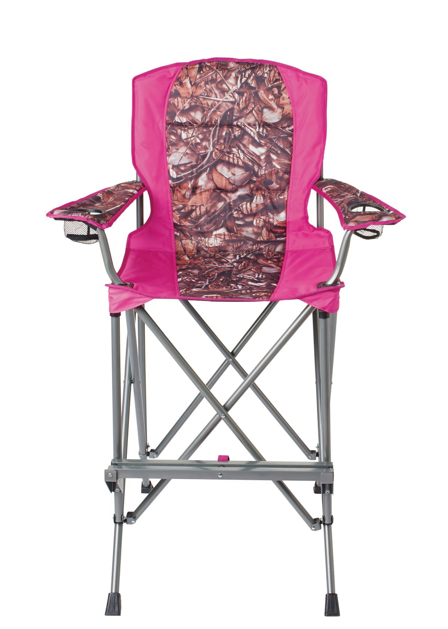 Outdoor Solutions Tall Boy Pink Camo Folding Chair   Shop Furniture At HEB