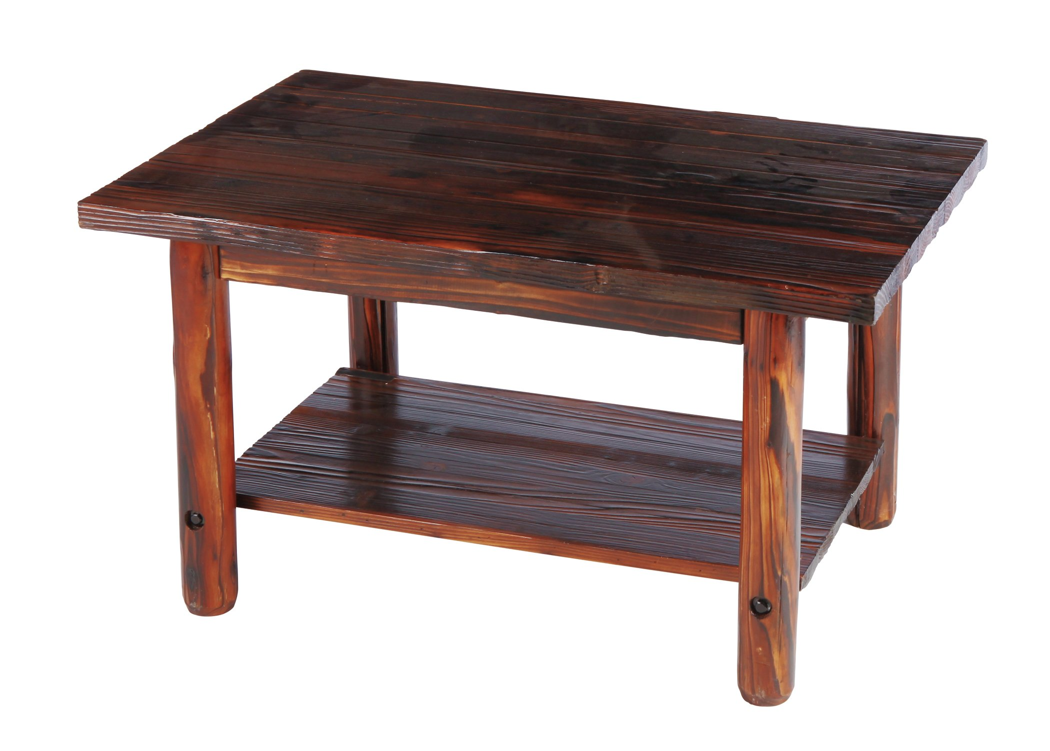 United General Supply Char Log Coffee Table Shop Furniture at HEB